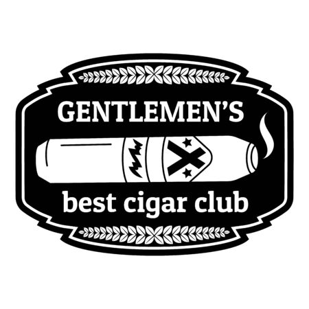 Best cigar club, simple style Çizim