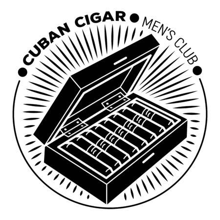 Cuban cigar men club, simple style