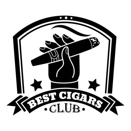 Luxury cigar club, simple style