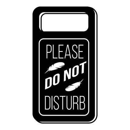 Dont disturb motel tag icon, simple style