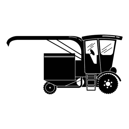 Old harvester icon. Simple illustration of old harvester vector icon for web design isolated on white background