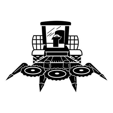Modern harvester icon. Simple illustration of modern harvester vector icon for web design isolated on white background Illusztráció