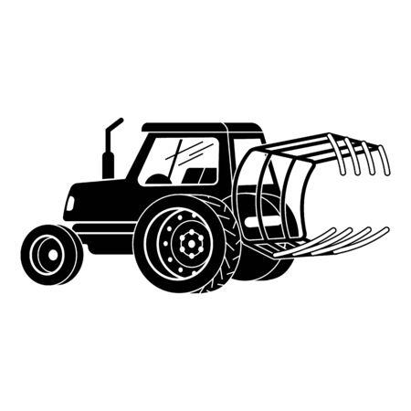 Icono de tractor, estilo simple Ilustración de vector