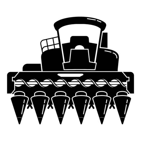 Corn harvester icon. Simple illustration of corn harvester vector icon for web design isolated on white background Vector Illustratie