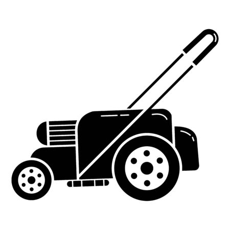 Motor grass cutter icon, simple style Illustration