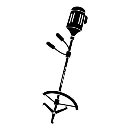 Grass trimmer icon, simple style Illustration