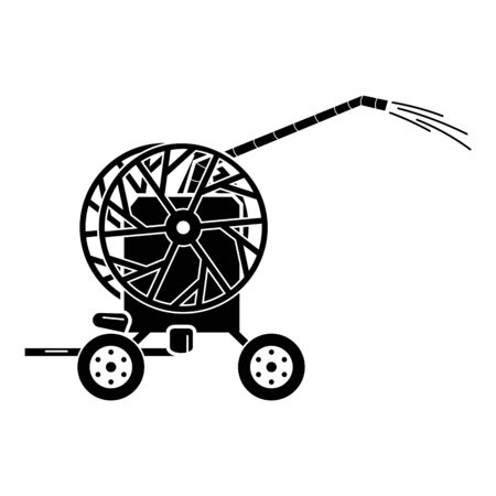 Tractor water pump icon, simple style 일러스트