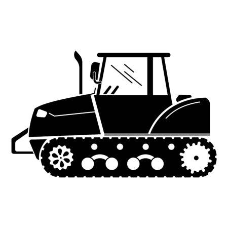 Farm crawler icon, simple style Иллюстрация
