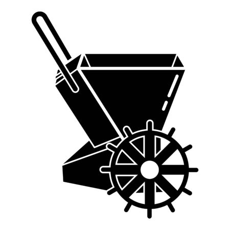 Mechanical hand seeder icon, simple style