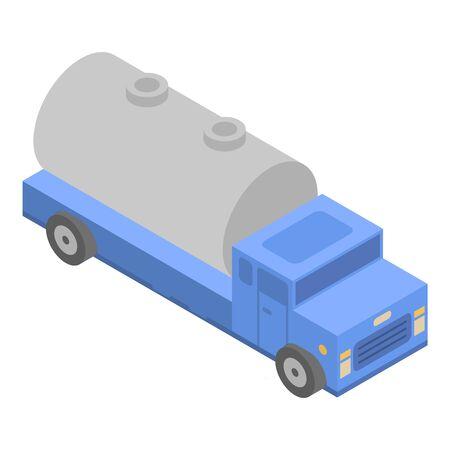 Milk truck icon, isometric style
