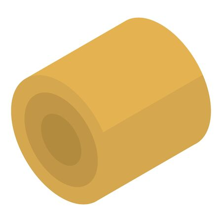 Farm wheat roll icon, isometric style