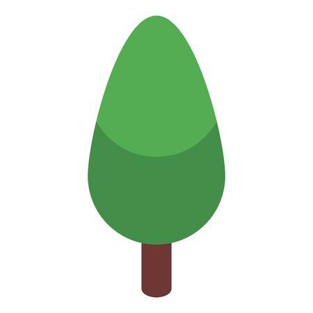 Tree icon, isometric style Illustration