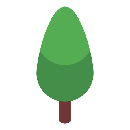 Tree icon, isometric style Stock Illustratie