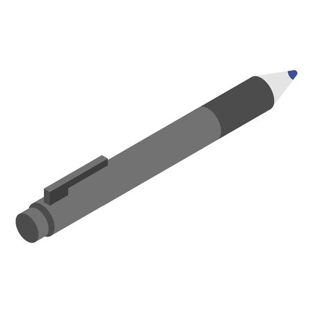 Office pen icon, isometric style