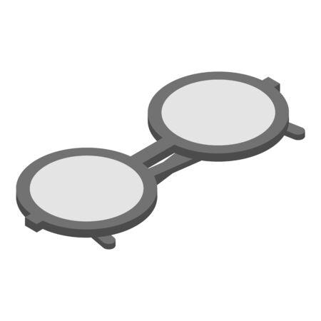 Eyeglasses icon, isometric style  イラスト・ベクター素材