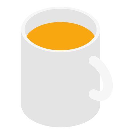 Mug tea icon, isometric style