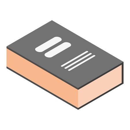 Encyclopedia book icon, isometric style Stock Illustratie