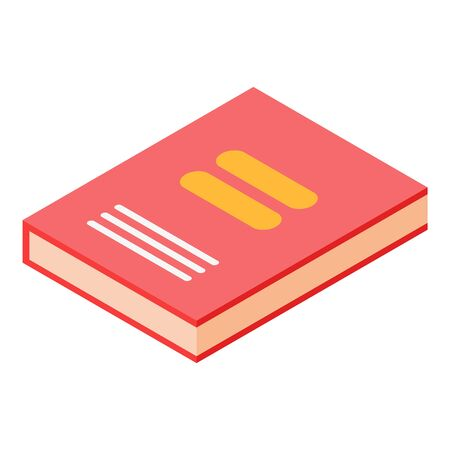 Red book icon, isometric style Stock Illustratie