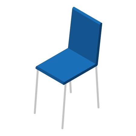 Blue chair icon, isometric style
