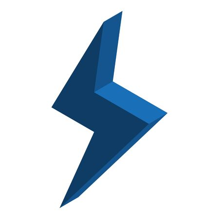 Blue energy bolt icon, isometric style Stock Illustratie