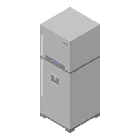 Kitchen fridge icon, isometric style