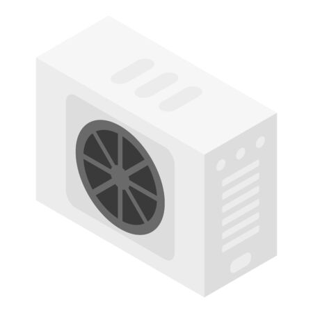 Outdoor ventilation conditioner icon, isometric style