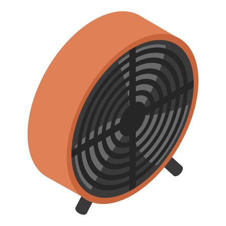 Plastic ventilator icon, isometric style