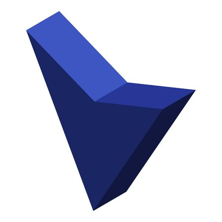 Blue cursor arrow icon, isometric style Stock Illustratie