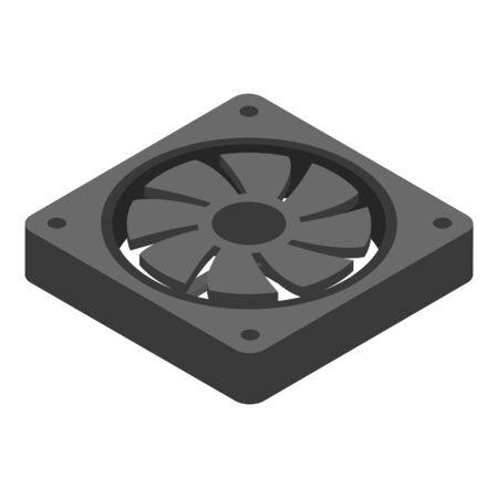 Computer cooler icon, isometric style Archivio Fotografico - 129932492