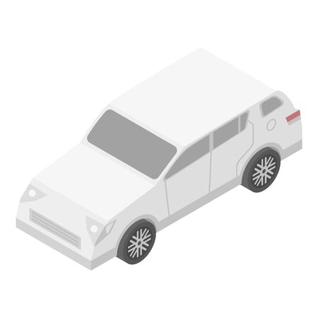 City car icon, isometric style
