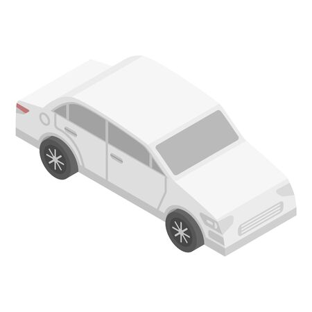 Driverless car icon, isometric style