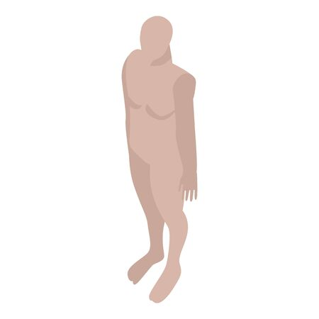 Nude mannequin icon. Isometric of nude mannequin vector icon for web design isolated on white background