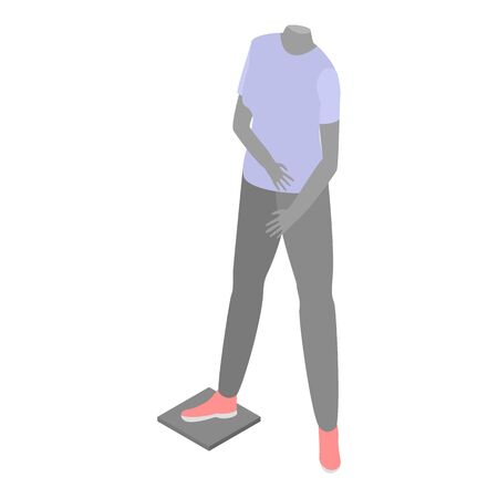 Man sport mannequin icon. Isometric of man sport mannequin vector icon for web design isolated on white background