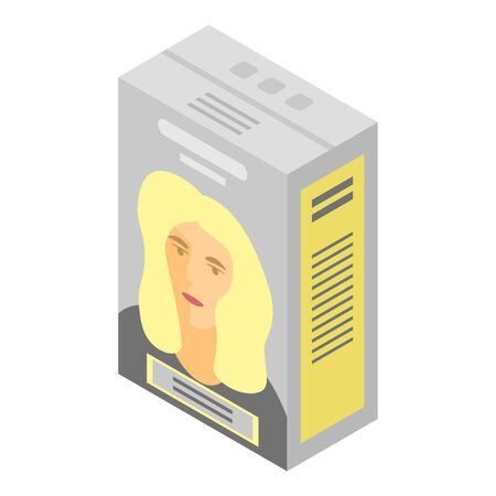 Blonde hair dye icon. Isometric of blonde hair dye vector icon for web design isolated on white background