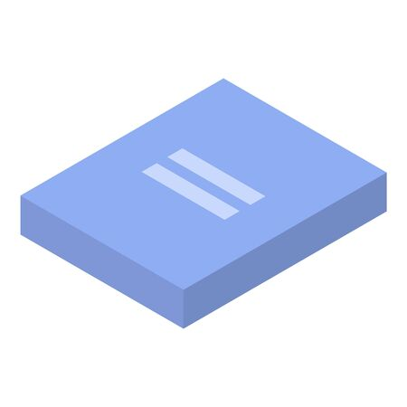 Lab folder icon, isometric style