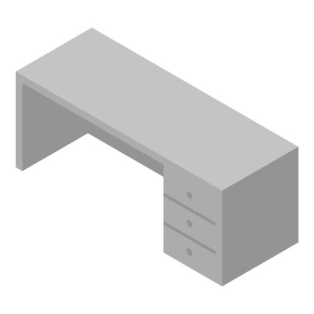 Office table icon, isometric style Illustration