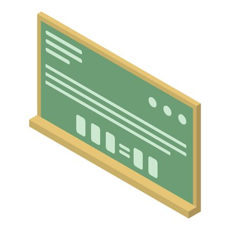 Scientist board icon, isometric style
