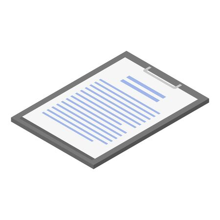 Lab clipboard icon, isometric style Illusztráció