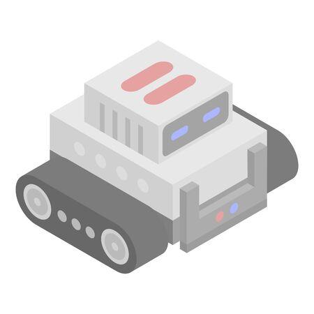 Combat robot icon, isometric style 일러스트