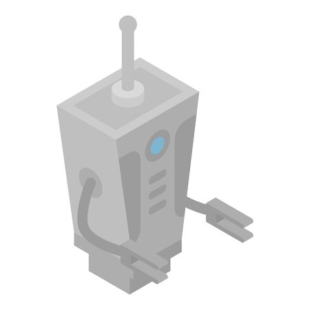Robot transformer icon, isometric style