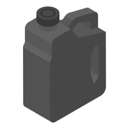 Black canister icon, isometric style