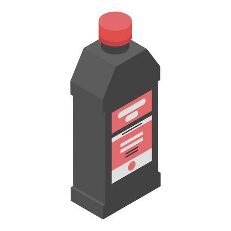Engine oil bottle icon, isometric style