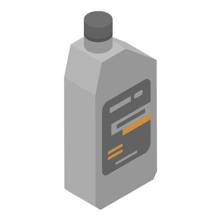 Machine oil bottle icon, isometric style