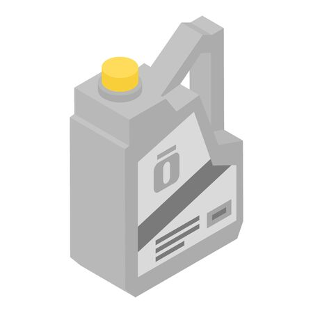 Number one motor oil icon, isometric style