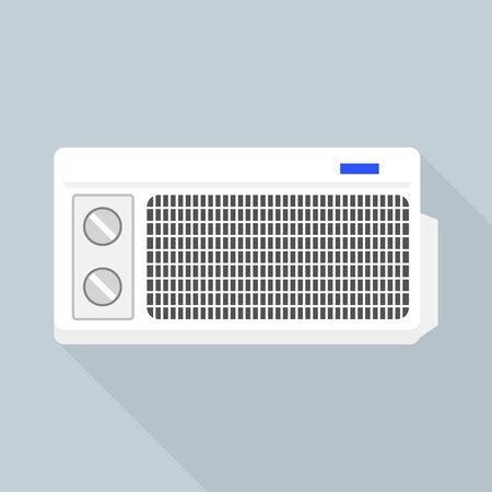 Old air conditioner icon. Flat illustration of old air conditioner vector icon for web design Stock Illustratie