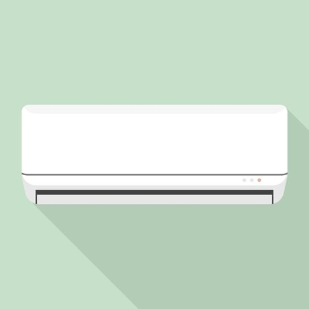 Room air conditioner icon, flat style Stock Illustratie