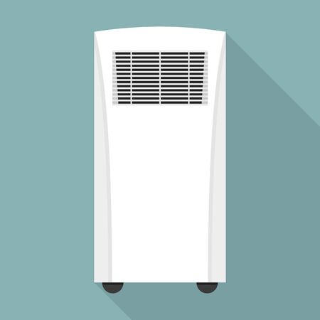 Conditioner heater icon. Flat illustration of conditioner heater vector icon for web design