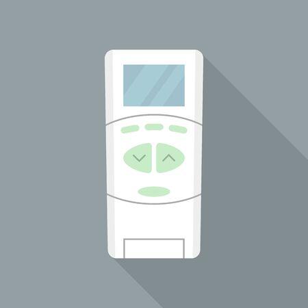 Air conditioner remote control icon. Flat illustration of air conditioner remote control vector icon for web design