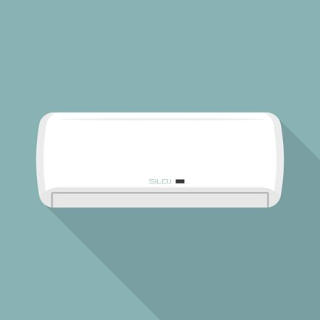 Wall air conditioner icon, flat style Stock Illustratie