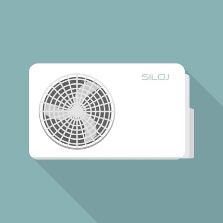 Fan wall conditioner icon. Flat illustration of fan wall conditioner vector icon for web design